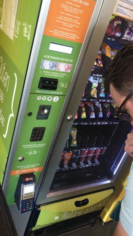 Comprar Máquina de Lanche Saudável para Escola Preço Água Funda - Comprar Máquina de Alimentos Saudáveis