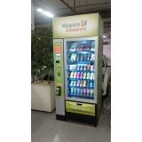 aluguel de vending machine produtos saudáveis Campo Belo