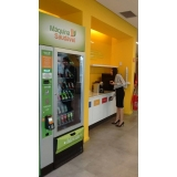máquina fast food de comida saudavel