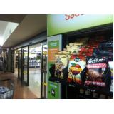máquina fast food de snack saudável