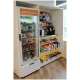 máquina de snacks para alugar